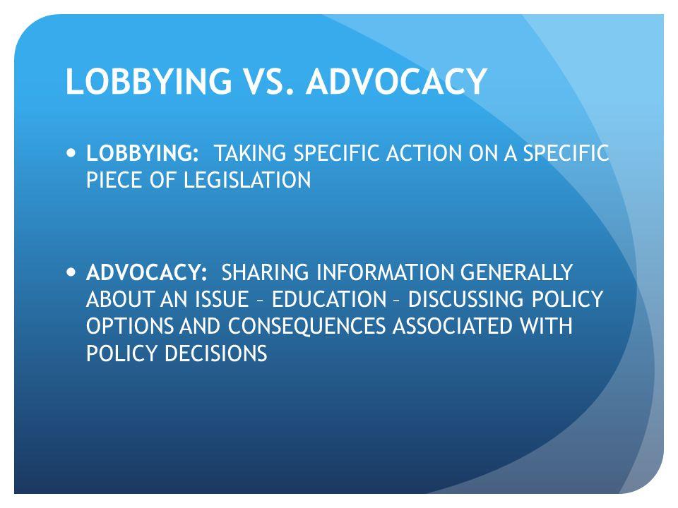 LOBBYING VS.