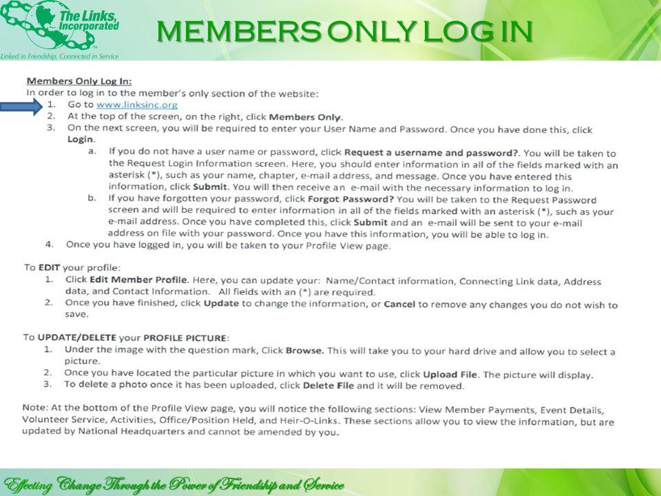 CLICK TO EDIT SUB TITLE MEMBERSHIP MANUAL http://linksinc.org/