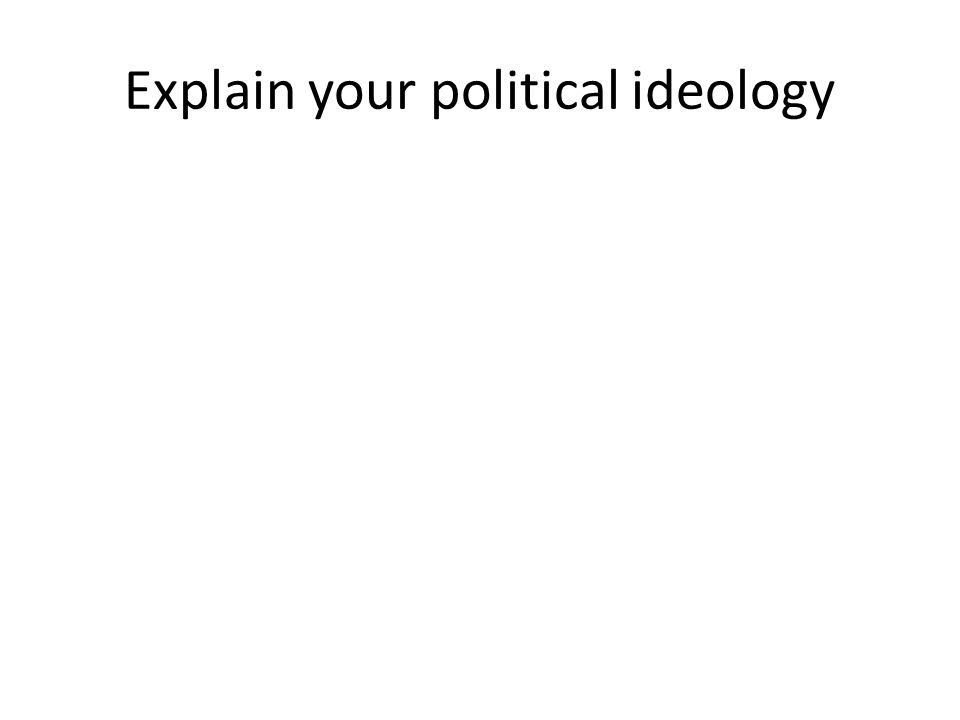Explain your political ideology