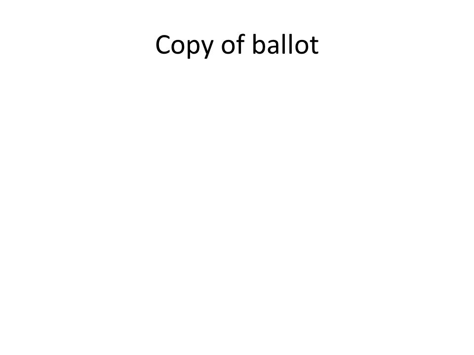 Copy of ballot