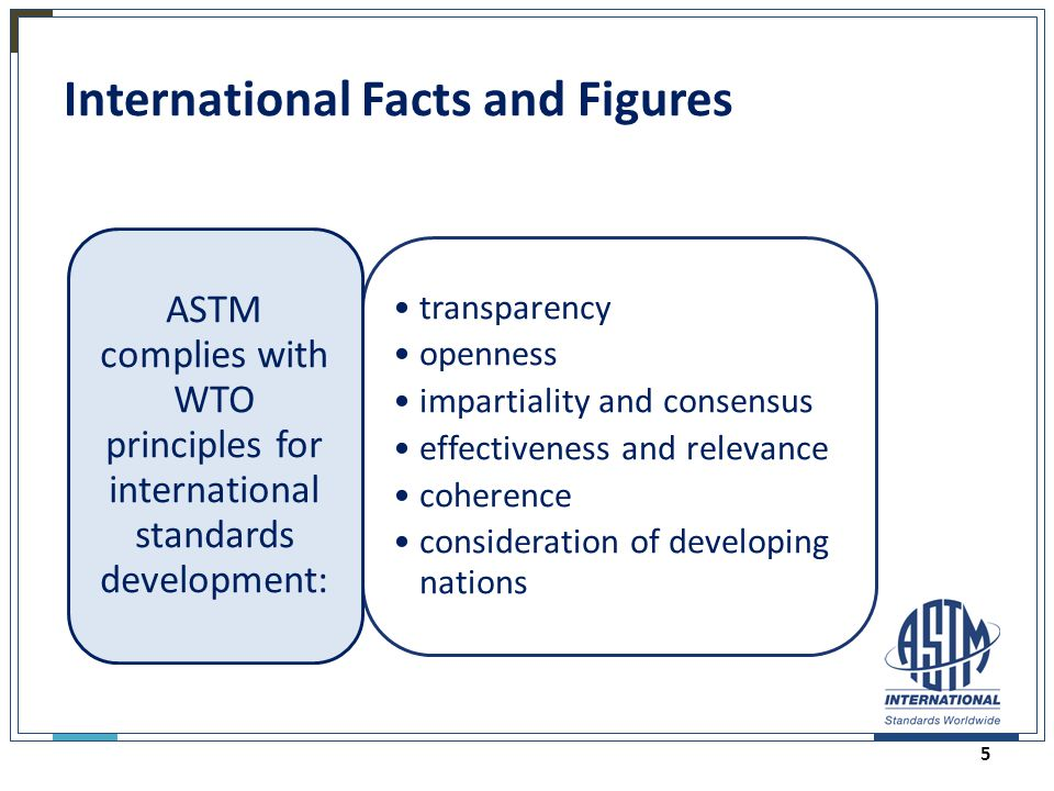 International Facts and Figures transparency openness impartiality and consensus effectiveness and relevance coherence consideration of developing nat