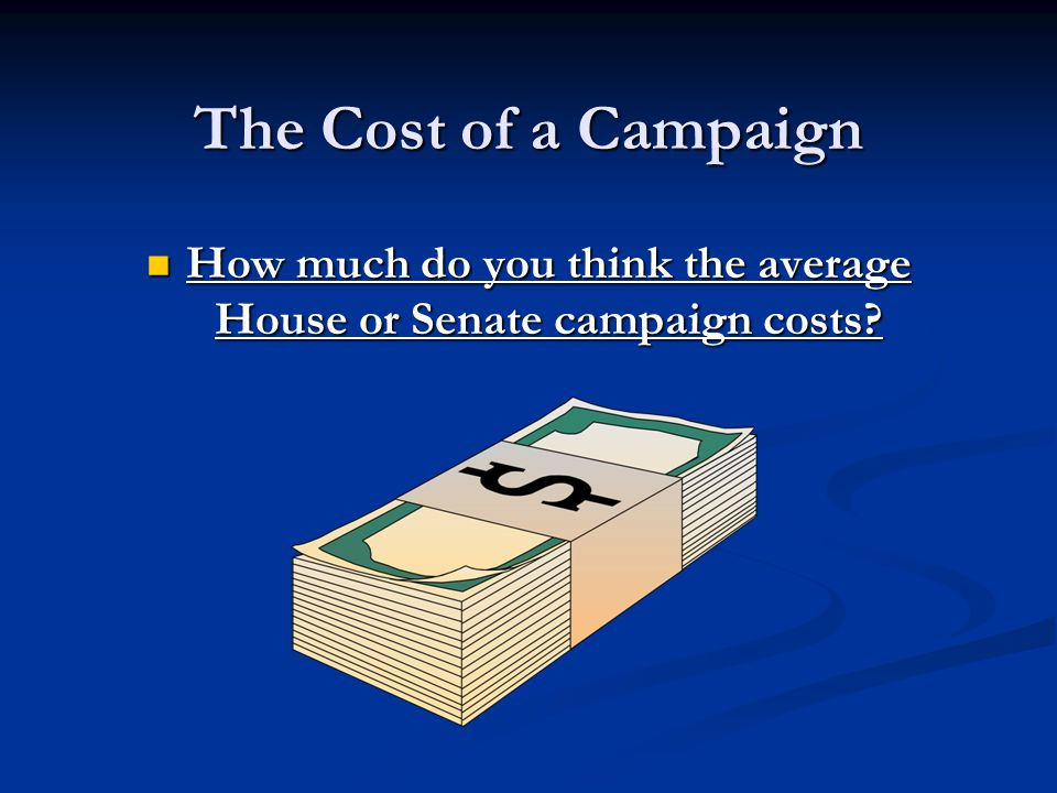 A Typical Campaign Spends Money On..