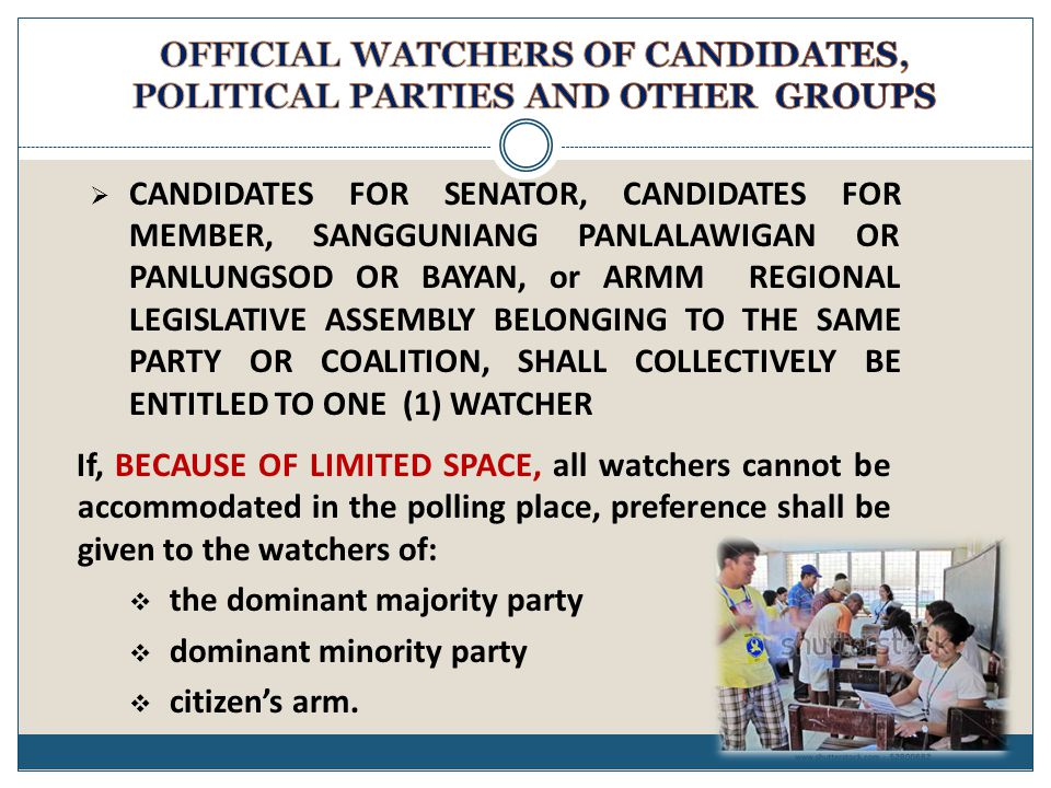  CANDIDATES FOR SENATOR, CANDIDATES FOR MEMBER, SANGGUNIANG PANLALAWIGAN OR PANLUNGSOD OR BAYAN, or ARMM REGIONAL LEGISLATIVE ASSEMBLY BELONGING TO T