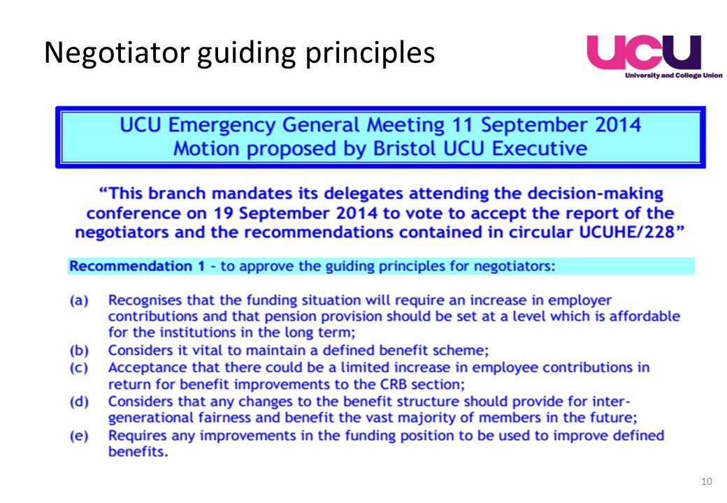 Negotiator guiding principles 10