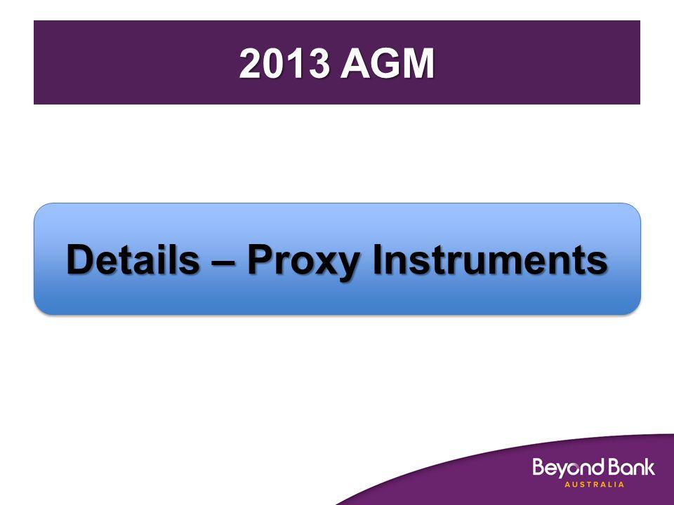 Details – Proxy Instruments