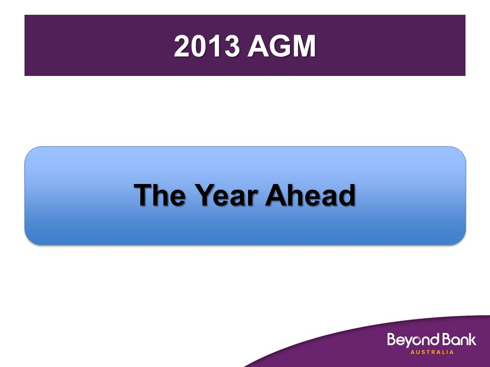 2013 AGM The Year Ahead