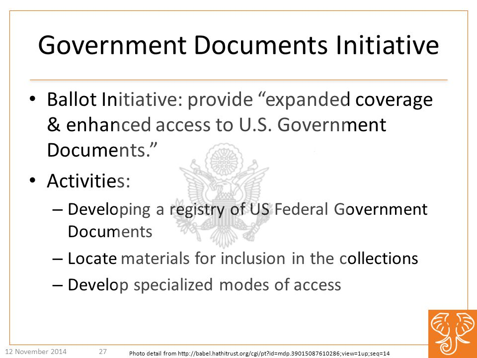 Ballot Initiative: provide expanded coverage & enhanced access to U.S.