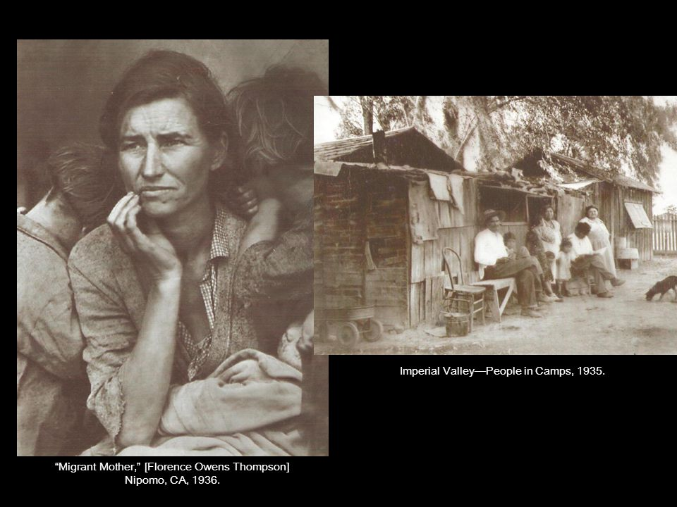 Migrant Mother, [Florence Owens Thompson] Nipomo, CA, 1936.