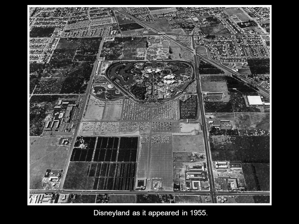 Disneyland as it appeared in 1955.