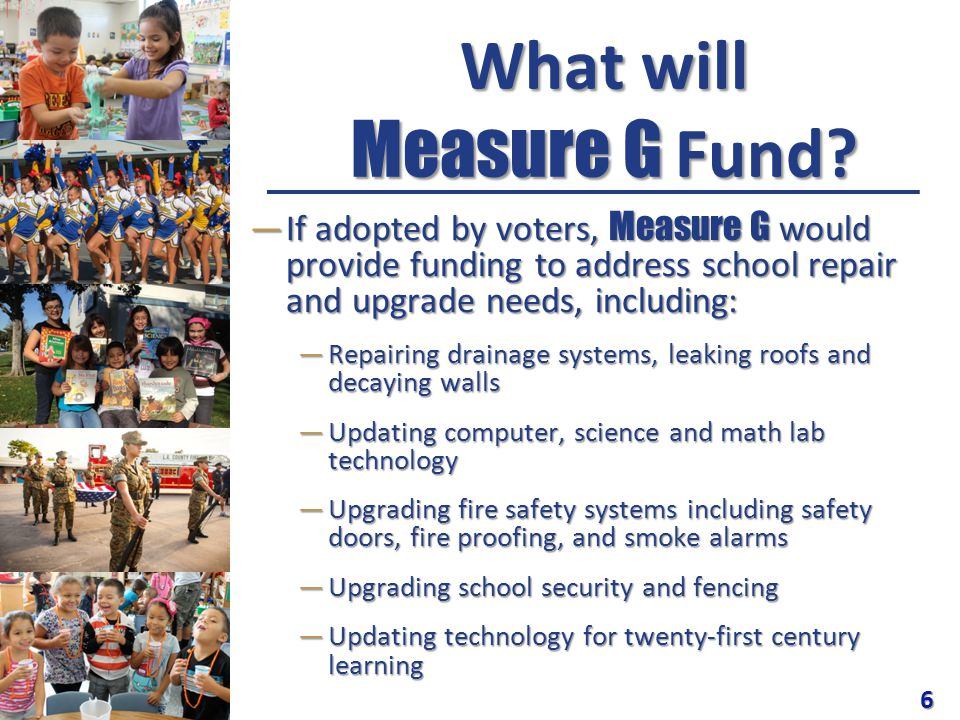 What will Measure G Fund.