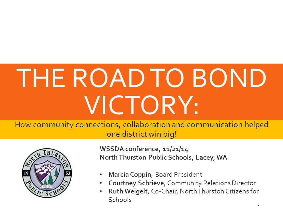 THE ROAD TO BOND VICTORY: How community connections, collaboration and communication helped one district win big.