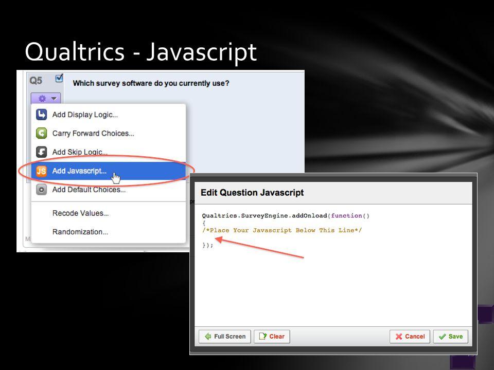 Qualtrics - Javascript