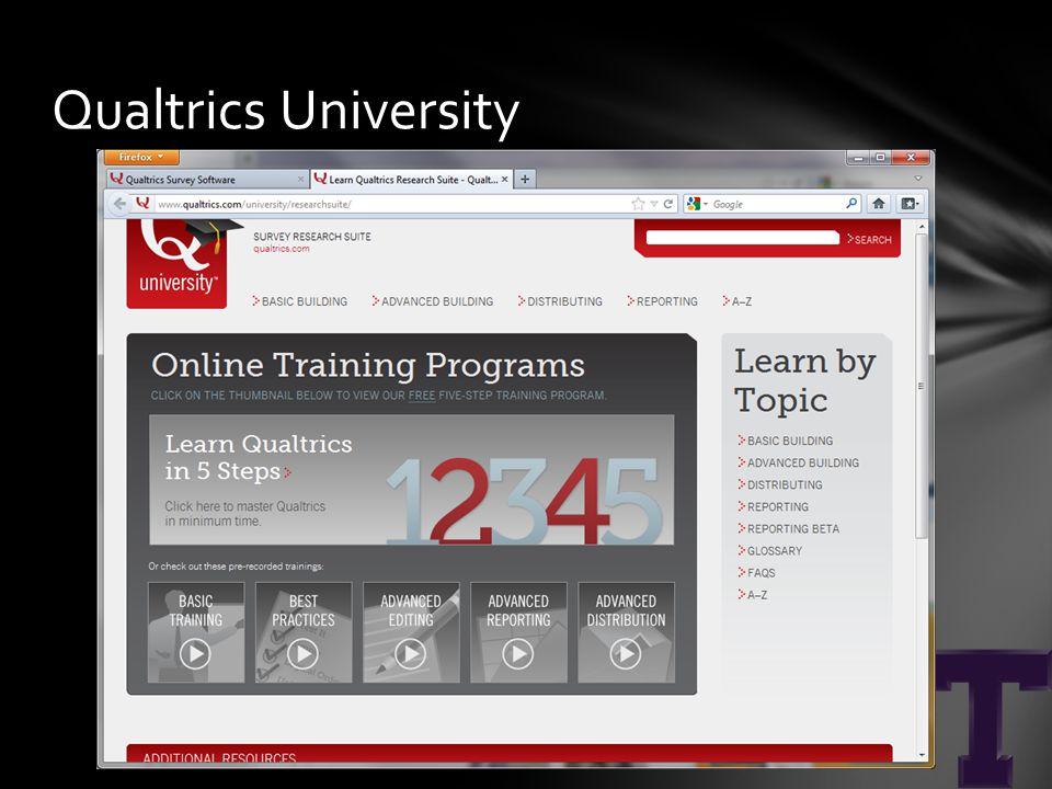 Qualtrics University