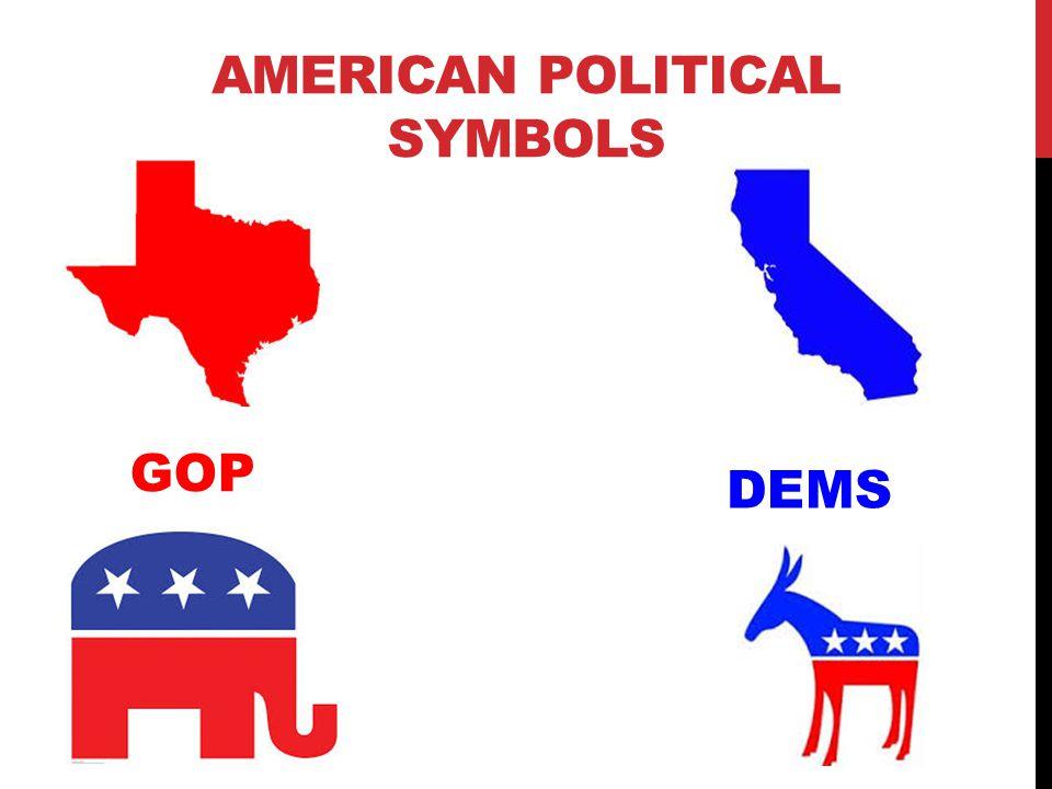 AMERICAN POLITICAL SYMBOLS GOP DEMS