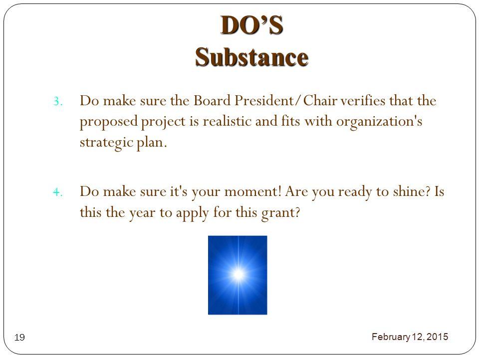 DO'S Substance 3.
