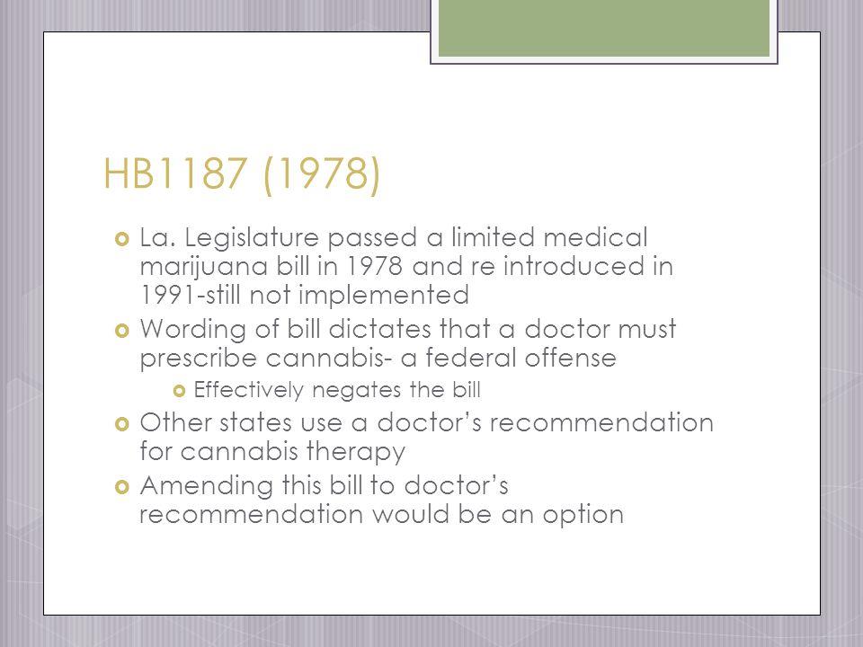 HB1187 (1978)  La.