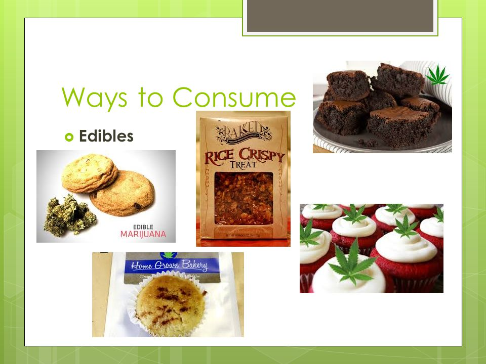 Ways to Consume  Edibles