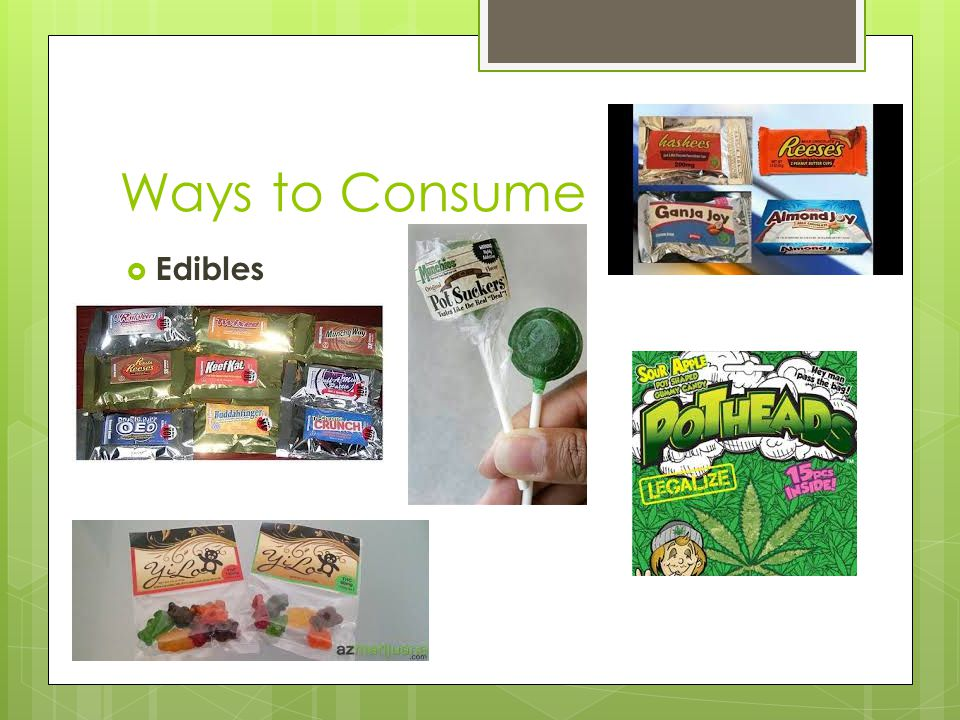 Ways to Consume  Edibles