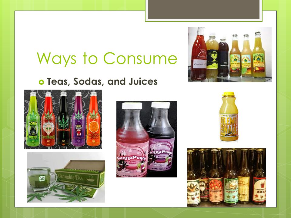 Ways to Consume  Teas, Sodas, and Juices
