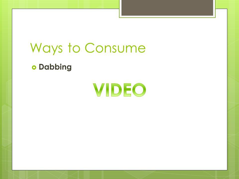 Ways to Consume  Dabbing