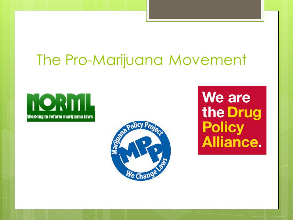 The Pro-Marijuana Movement