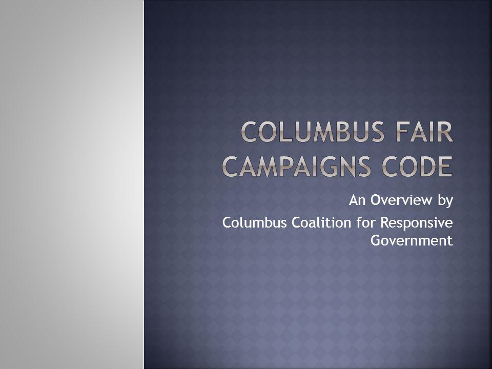  Columbus Coalition for Responsive Government  1051 E.