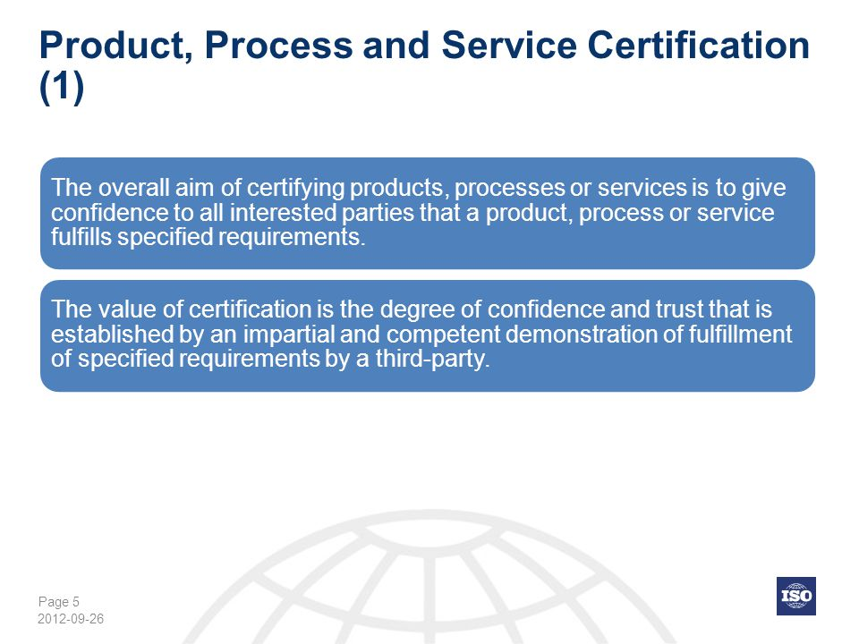 Page 36 ISO/IEC 17065:2012 2012-09-26 Principles (Annex A) ISO/IEC 17065 and relation to ISO/IEC Guide 65 The informative Annex A contains the principles (no requirements) for product certification bodies and their activities.