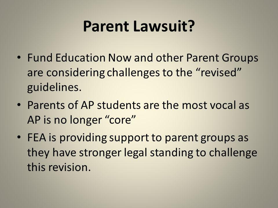 Parent Lawsuit.