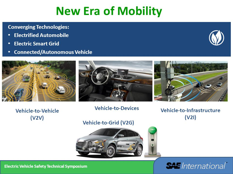 Vehicle-to-Vehicle (V2V) New Era of Mobility Converging Technologies: Electrified Automobile Electric Smart Grid Connected/Autonomous Vehicle Vehicle-