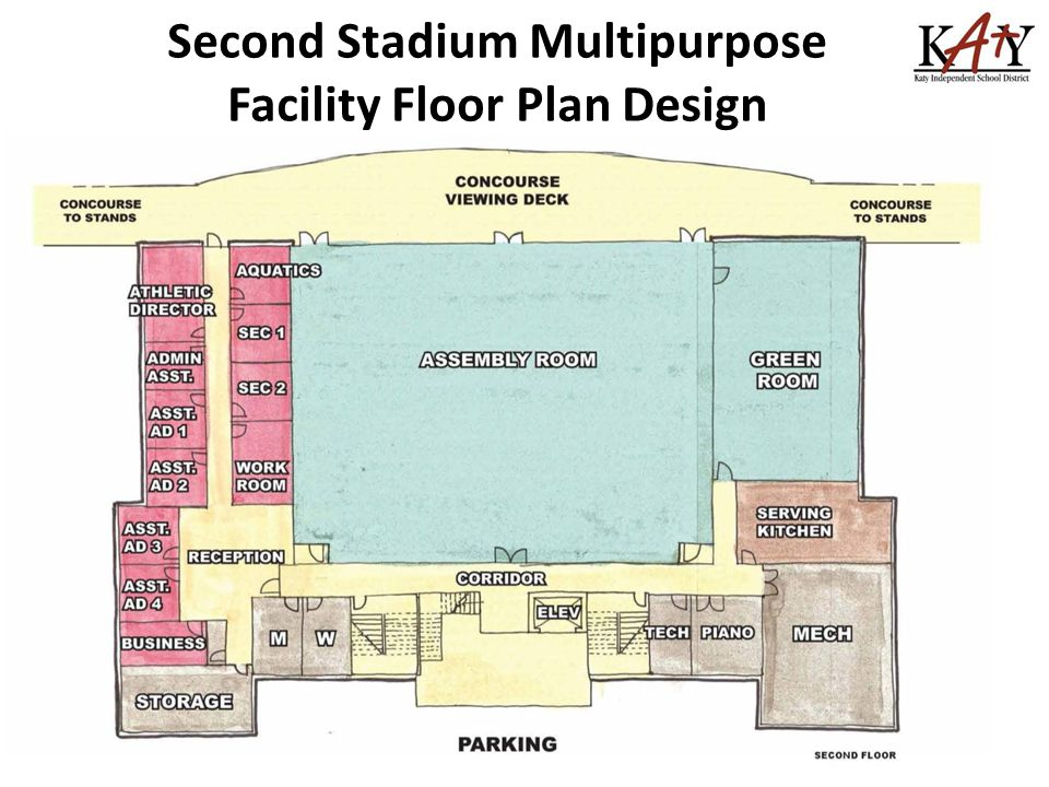 Second Stadium Multipurpose Facility Floor Plan Design