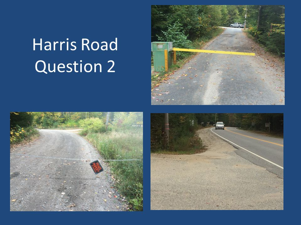 Harris Road Question 2