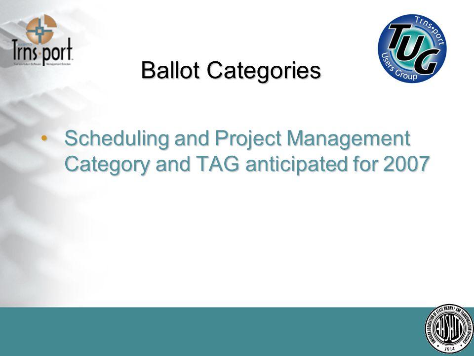 Ballot Categories Alignment Matrix