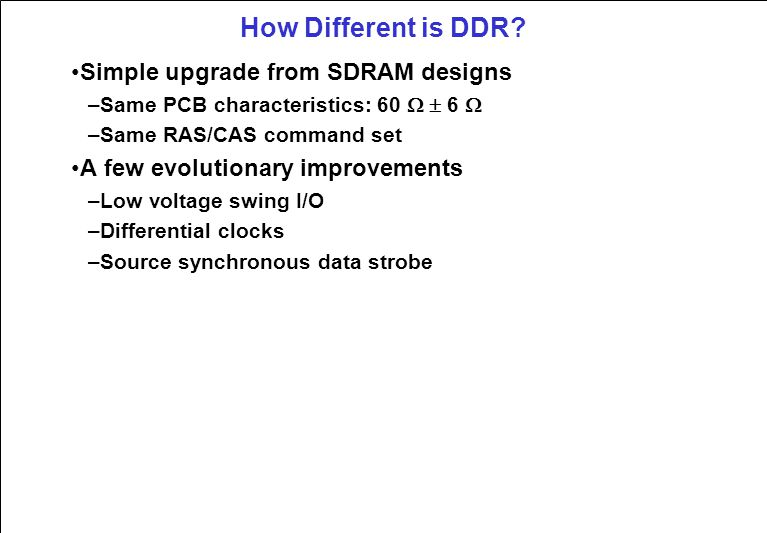 How Different is DDR.