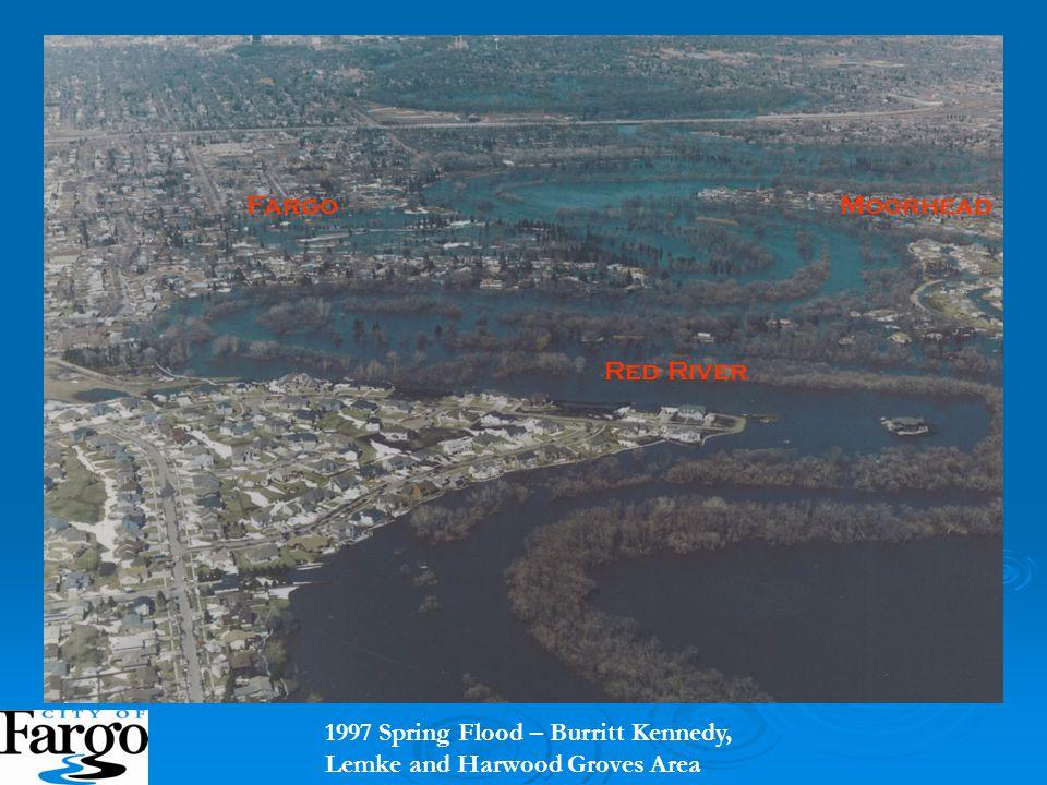 1997 Spring Flood – Burritt Kennedy, Lemke and Harwood Groves Area Red River Fargo Moorhead