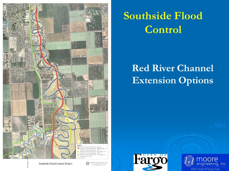 Southside Flood Control Red River Channel Extension Options
