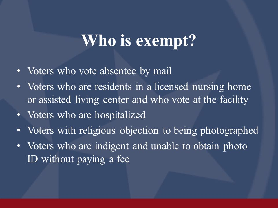 Who is exempt.