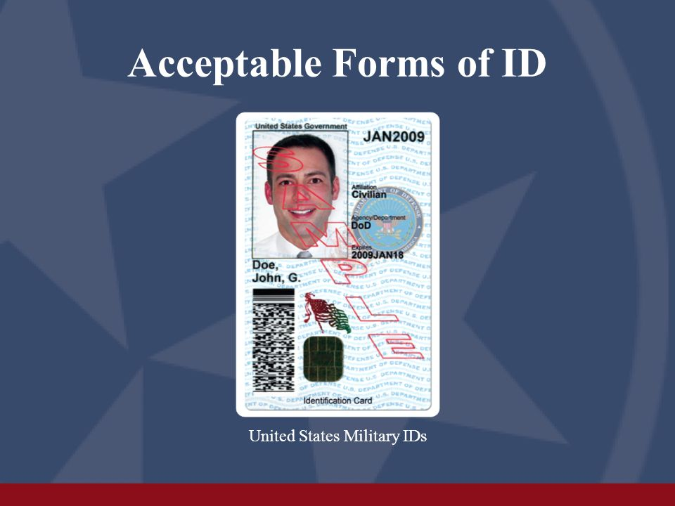 Acceptable Forms of ID Handgun Carry Permit (even if expired)