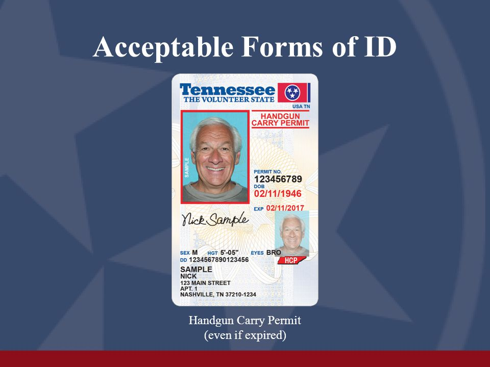 What forms of ID are NOT acceptable.