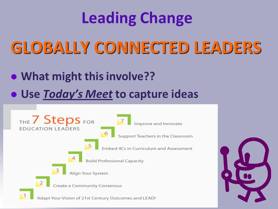 Katrina Spencer 2014 Leading Change GLOBALLY CONNECTED LEADERS What might this involve .