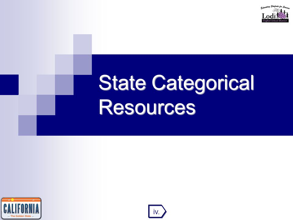 State Categorical Resources iv.