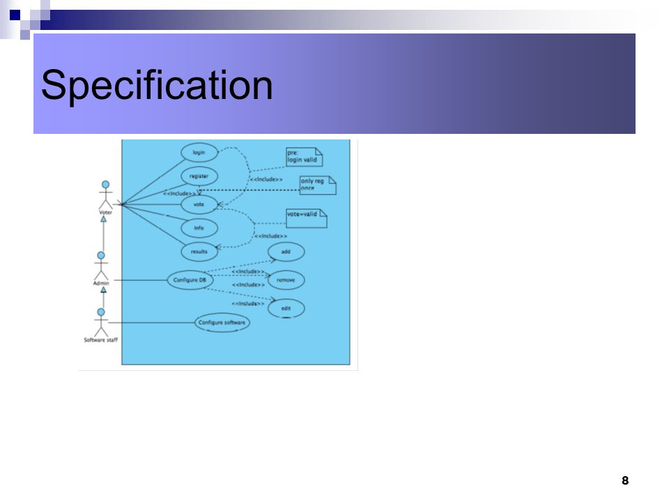 8 Specification