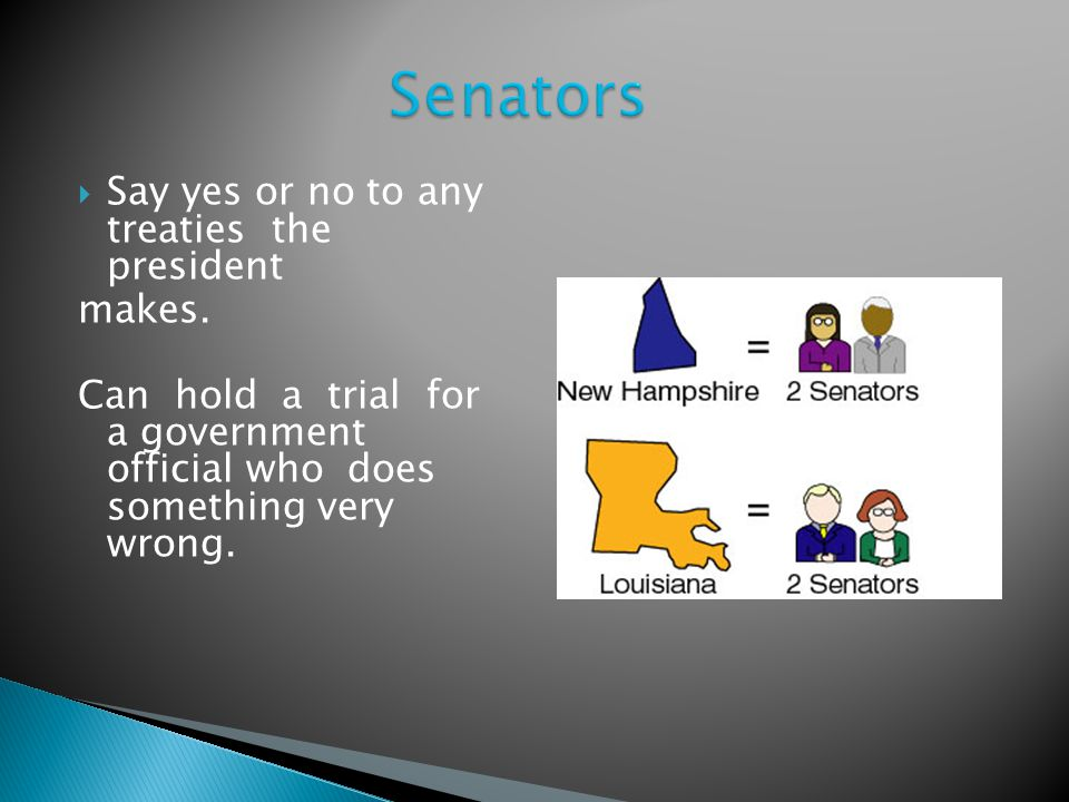 Senators Senators have to be 30 years or older to run.