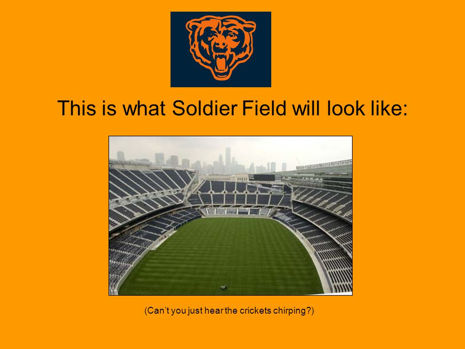 This is what Soldier Field will look like: (Can't you just hear the crickets chirping )