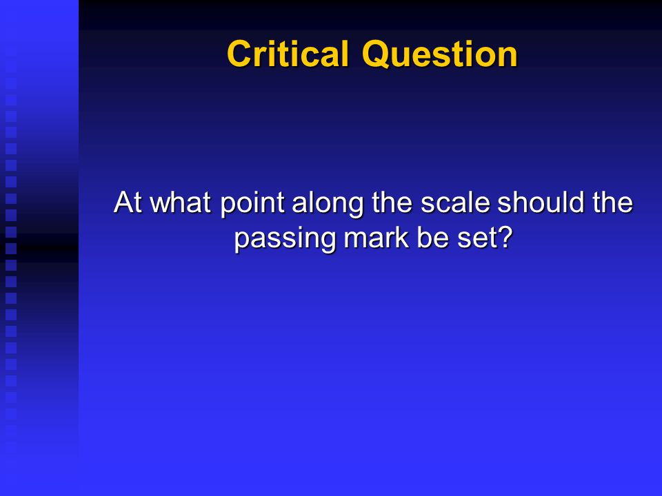 Cut scores split a continuous distribution of knowledge, skills, and abilities into separate regions.