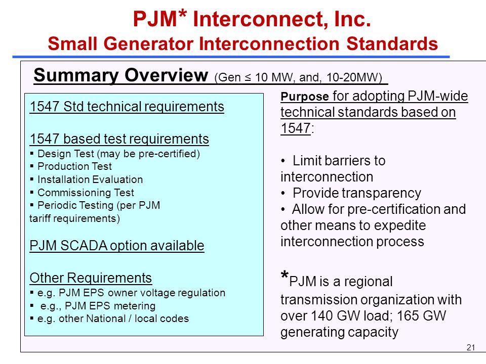 PJM * Interconnect, Inc.