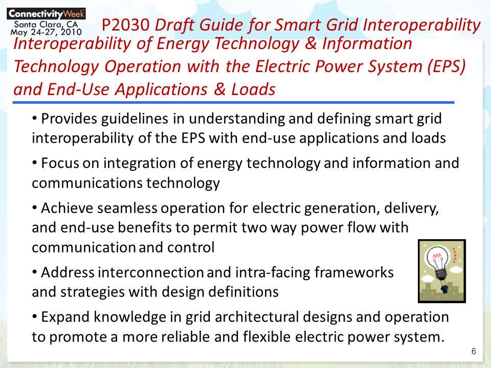 Evolution of Smart Grid Interoperability (P2030 draft May 2010) 7