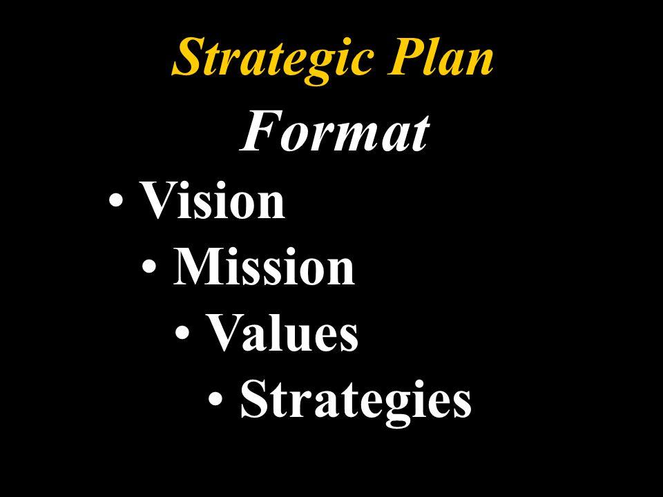 Strategic Plan Format Vision Mission Values Strategies