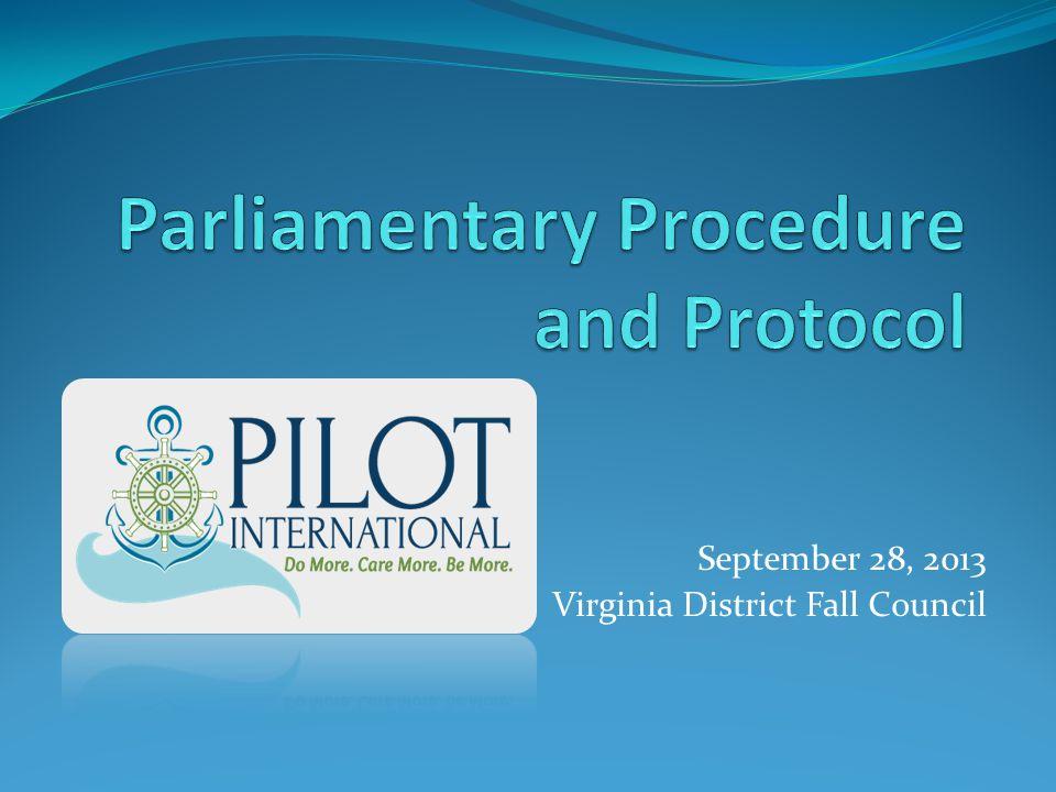 September 28, 2013 Virginia District Fall Council