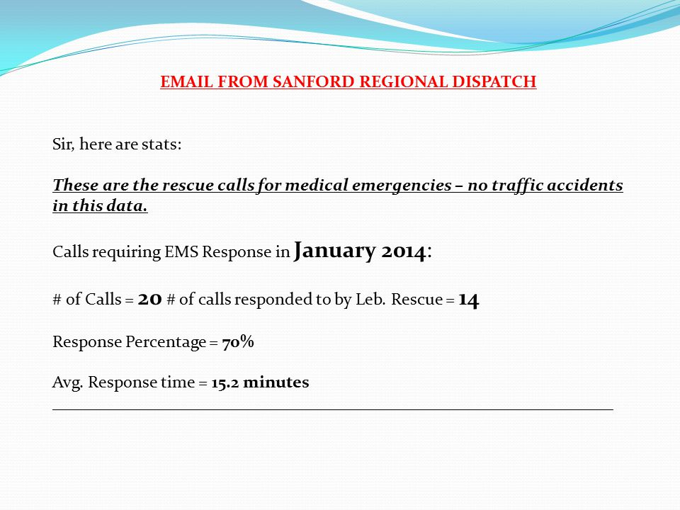 Sir, here are stats: These are the rescue calls for medical emergencies – no traffic accidents in this data.