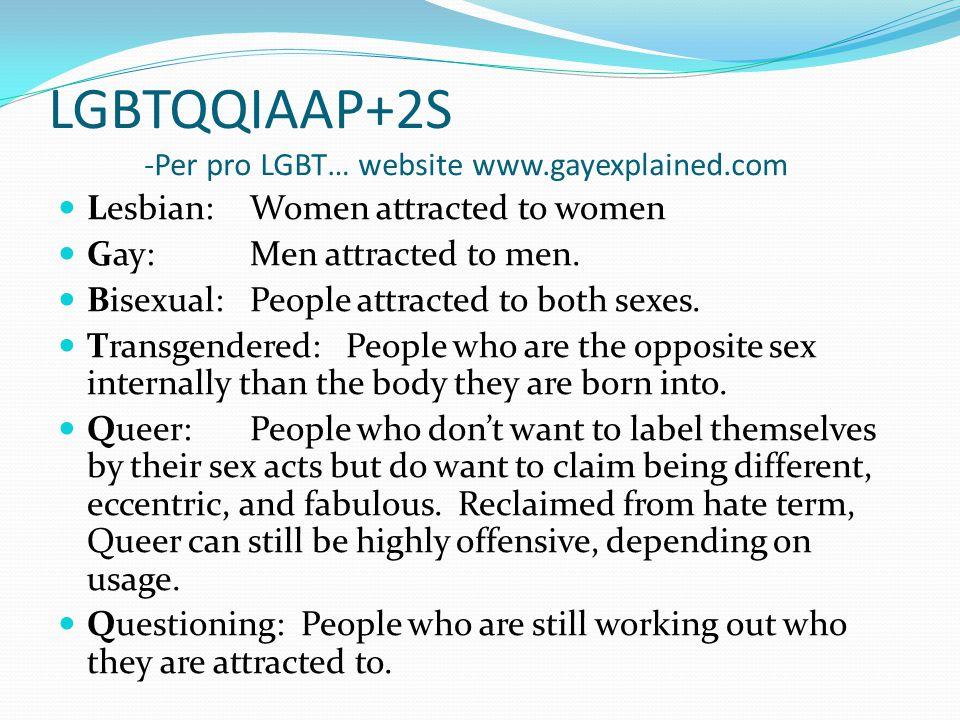 LGBTQQIAAP+2S – cont.